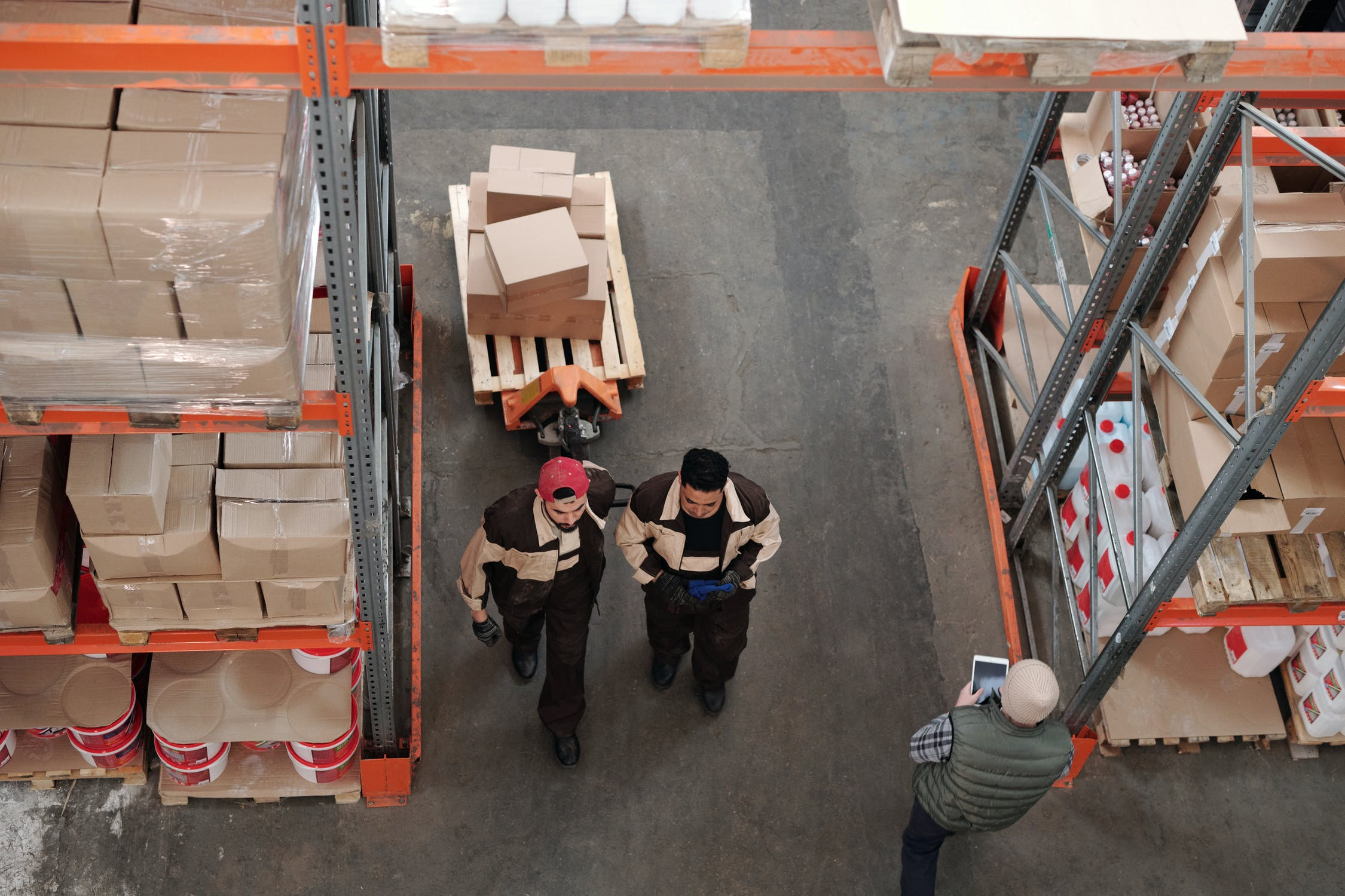 Workers inside a 3pl Sydney warehouse